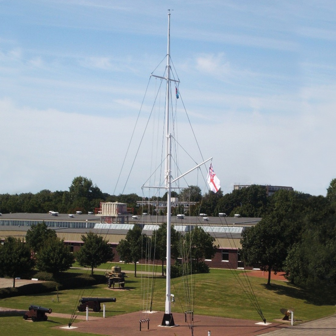Rigged Flagpoles