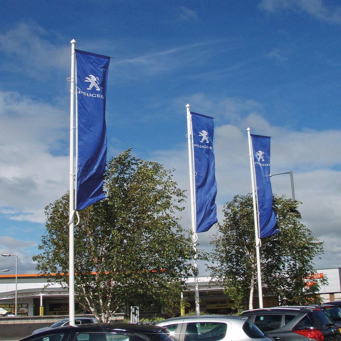 Commercial Glassfibre Flagpoles Uk Manufactured