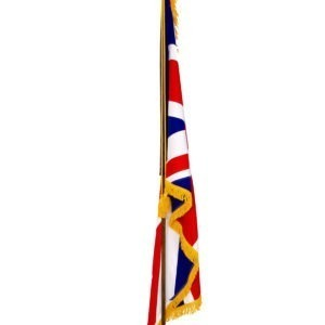 ceremonial flagpole with union flag