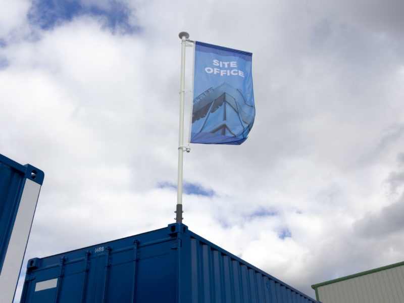 Container flagpole