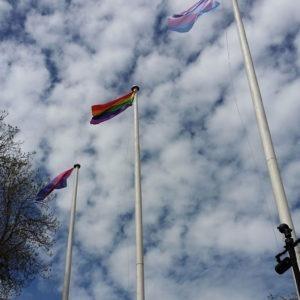 Pride Flags outside