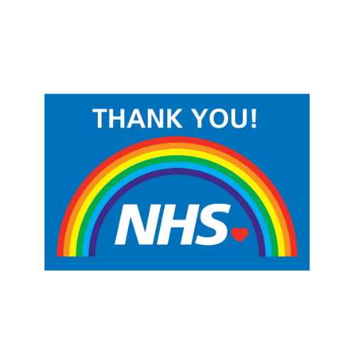 Rainbow NHS Thank you flag/ banner