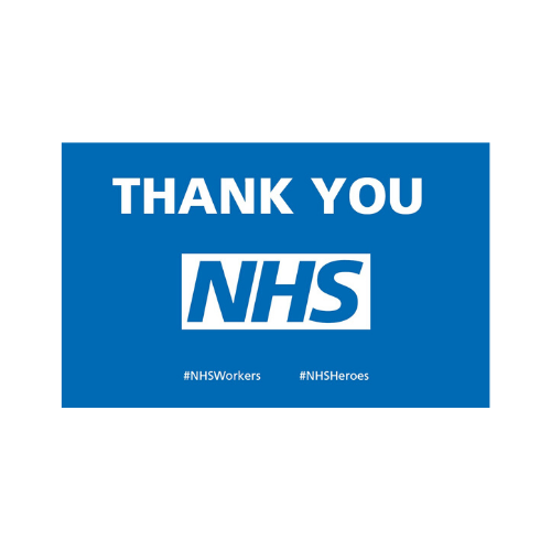 NHS thank you flag/ banner