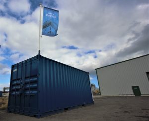 Container flagpoles